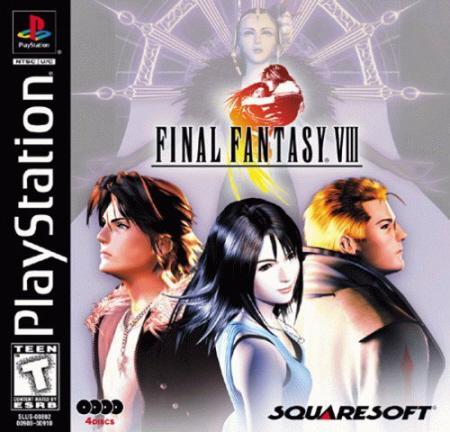 Final Fantasy VIII box artwork (PS1)