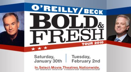 Bold & Fresh Tour Bill O'Reilly and Glenn Beck review (artwork)