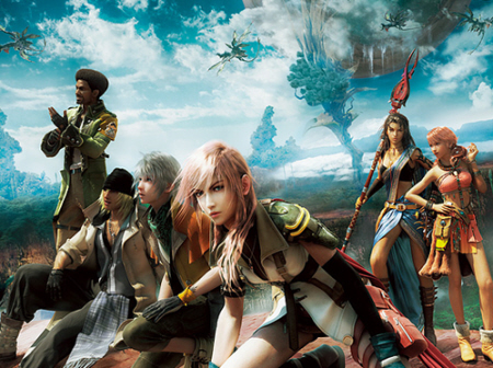 Final Fantasy XIII cast artwork. Release date is March 9, 2010