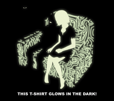 The ICO Video Games Blogger shirt even GLOWS IN THE DARK!
